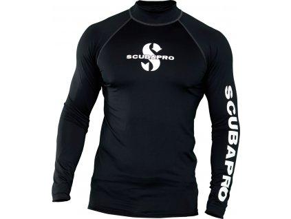 Scubapro Lycrové Tričko Rash Guard Černé Pánské Dlouhý Rukáv UPF50
