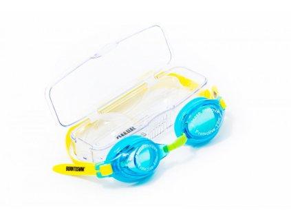 Dětské plavecké brýle BornToSwim® 2 (Barva Tmavě modrá)