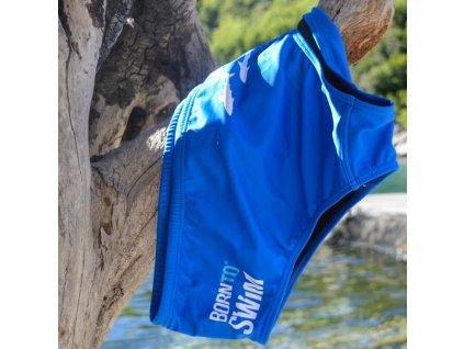 Pánské plavky BornToSwim® - SHARKS (Barva Černá, Velikost XXL)