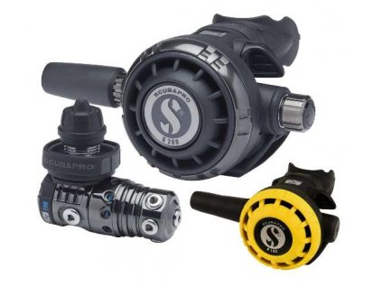 Scubapro MK25 BLACK TECH G260 BLACK TECH R195 Set