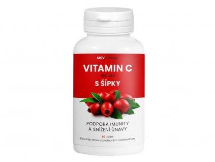 MOVit Vitamin C 1000 mg + šípky, prodl. úč., 90 tablet