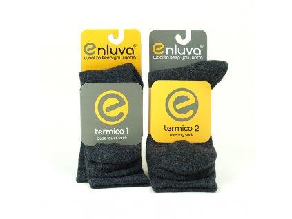 ENLUVA termico insulation system - set 2 ponožek do bot (Velikost 42 - 44)
