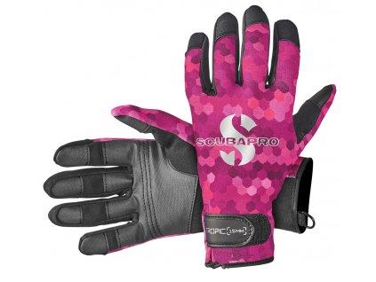 Scubapro Rukavice Tropic Glove 1.5mm Růžové