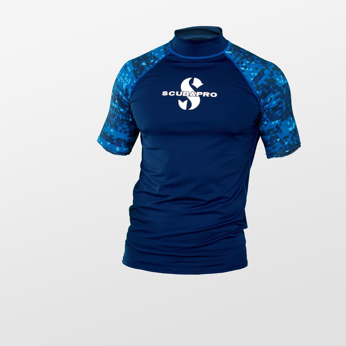 Lycrové triko Scubapro RASH GUARD AEGEAN UPF50 Krátký Rukáv Pánské Velikost: S, Pohlaví: Pánské