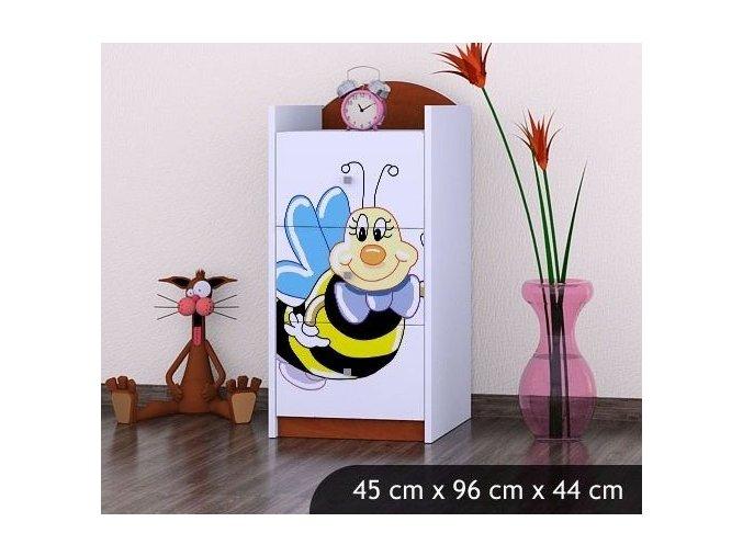 Dětská komoda BABYDREAMS A smiling bee