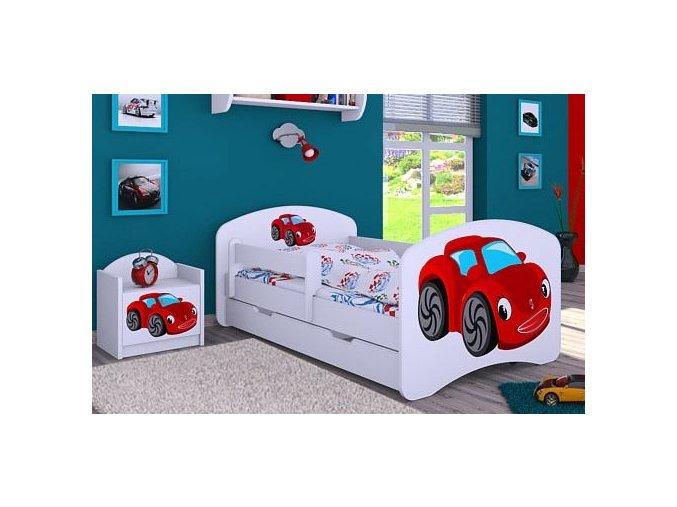 Dětská postel BABYDREAMS Car 3 se šuplíke (1)