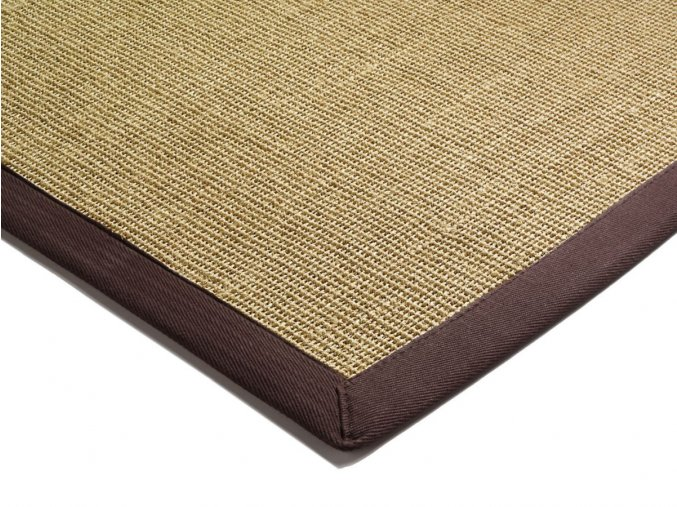 asiatic SISAL CHOCOLATE LINEN