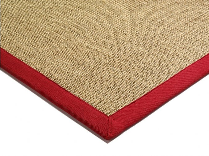 asiatic SISAL RED LINEN