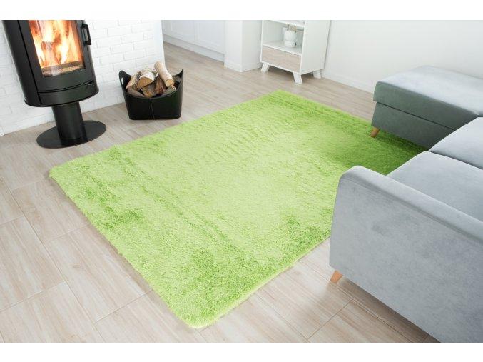 Plyšový koberec - Zelený