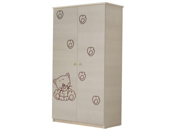 Dětská skříň LUX s výřezem KOČIČKA