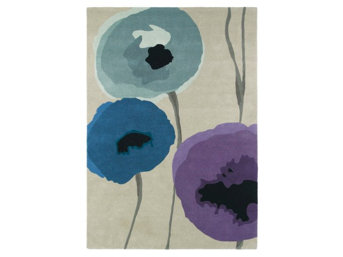Koberec Sanderson - POPPIES 45705 Indigo Purple