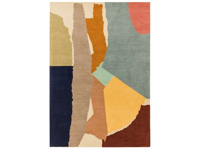 reef rug rf14 abstract multi wool