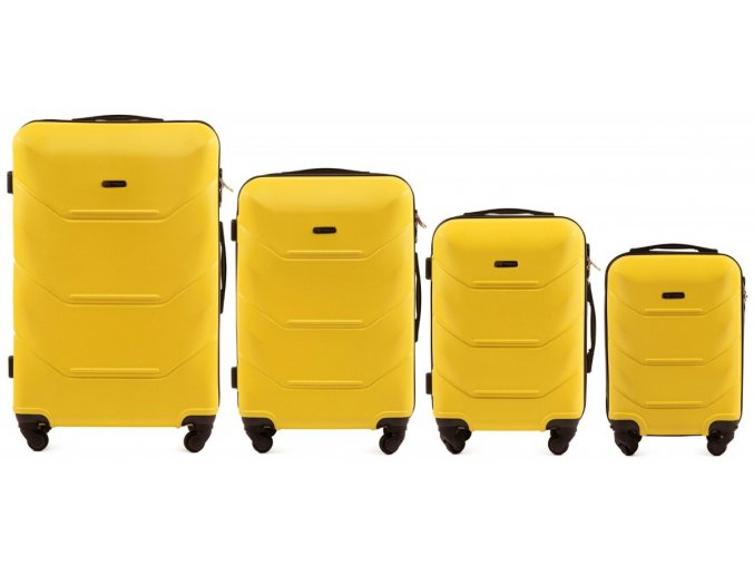 Cestovní Kufr CARBON - Žlutý