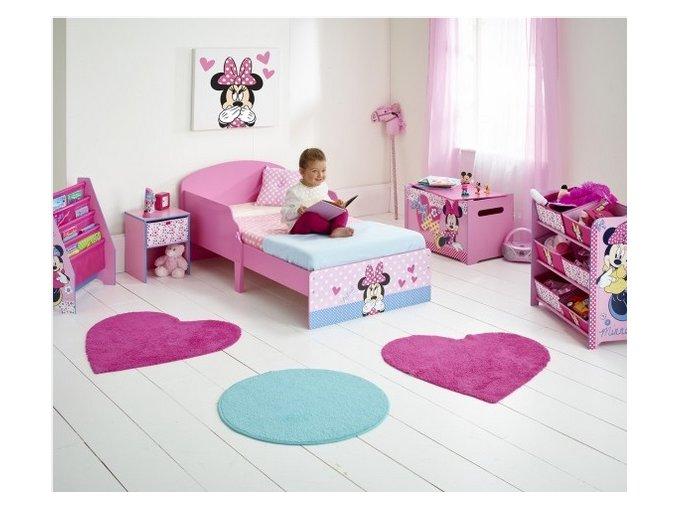 Dřevěná postel Disney Minnie Mouse 140x70 cm2