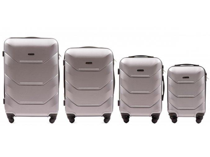 Cestovní Kufr CARBON - Stříbrný 2