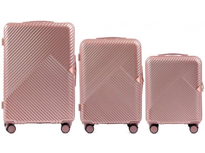 Cestovní Kufr ADORE - Růžový