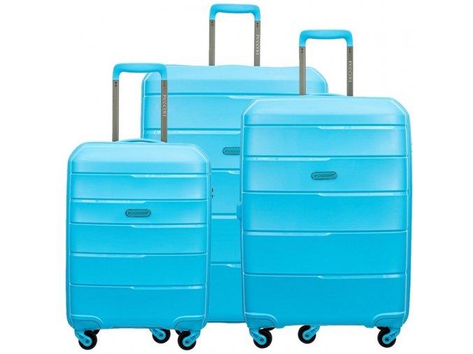 Cestovní Kufr BAHAMAS - Modrý