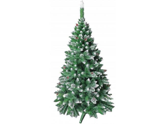 Umělá vánoční borovice s šiškami - diamant 120 cm