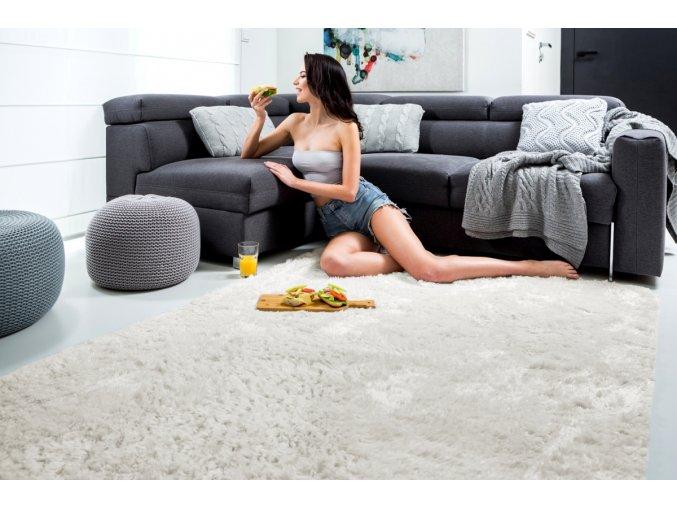 Plyšový koberec - Krémový 2