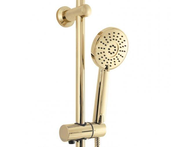 Sprchová souprava LUIS s výtokem do vany - zlatá