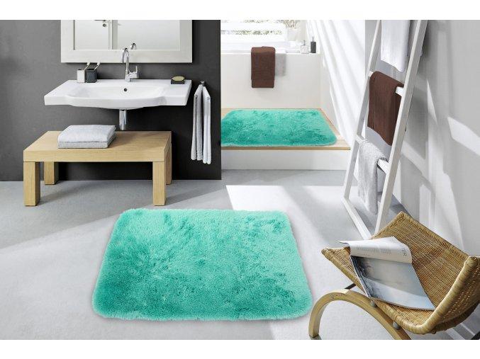 Koupelnová plyšová předložka SHENN - mátová