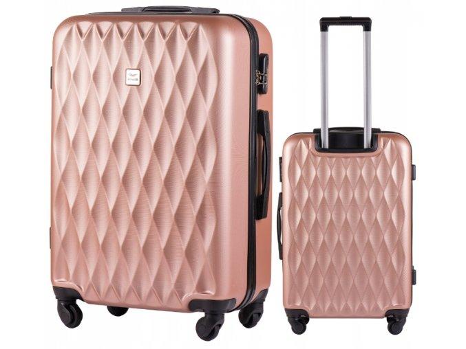 Cestovní Kufr DIAMOND - Růžový