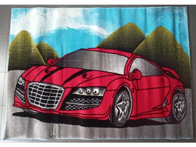 Koberec Intel - CAR Červený ( 120x170 cm )