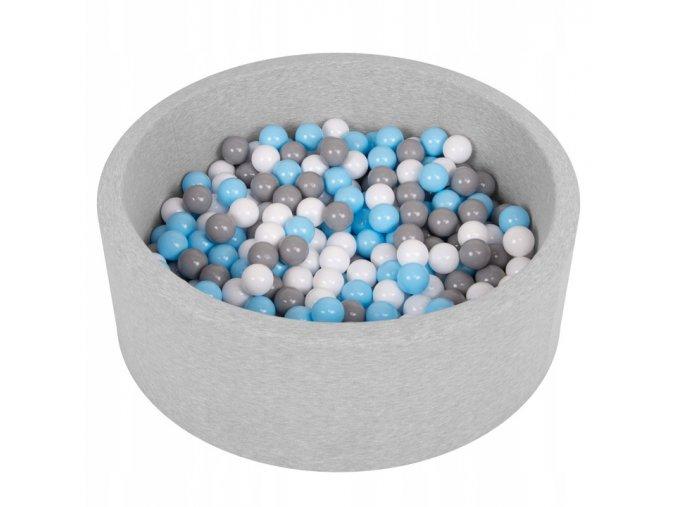 """Dětský suchý bazének """"90x30"""" s míčky šedo-modré 200 ks"""
