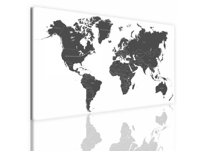 Obraz na plátně mapa světa, vzor 41100