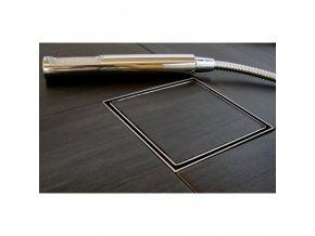 Odtokový sprchový žlab POINT LINE - Hranatý pro vložení do dlažby