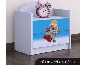 Dětský noční stolek BABYDREAMS Bob the Builder (4)