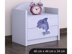 Dětský noční stolek BABYDREAMS Dolphin (7)