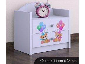 Dětský noční stolek BABYDREAMS Bears (4)