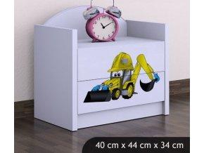 Dětský noční stolek BABYDREAMS Digger (2)