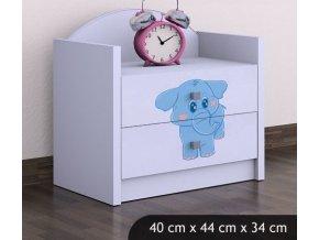 detsky nocni stolek babydreams blue elephant (7)