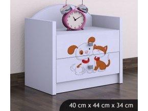 Dětský noční stolek BABYDREAMS Dog and kitten (5)