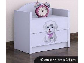 Dětský noční stolek BABYDREAMS Dog with bow (6)