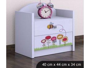Dětský noční stolek BABYDREAMS Bee (4)
