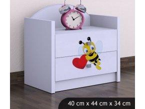 Dětský noční stolek BABYDREAMS Bee with a heart (6)