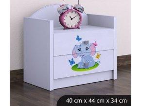 Dětský noční stolek BABYDREAMS Elephant (8)