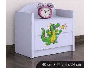 Dětský noční stolek BABYDREAMS Dragon (7)