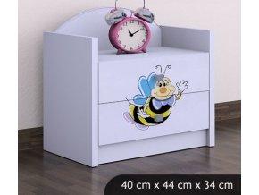 Dětský noční stolek BABYDREAMS A smiling bee (9)