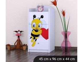 Dětská komoda BABYDREAMS Bee with a heart