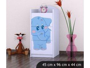 Dětská komoda BABYDREAMS Blue elephant