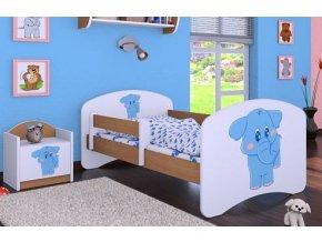 Dětská postel BABYDREAMS Blue elephant (1)