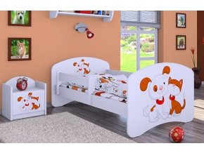 Dětská postel BABYDREAMS Dog and kitten (8)
