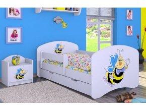 Dětská postel BABYDREAMS A smiling bee se šuplíkem (1)