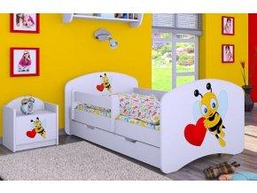Dětská postel BABYDREAMS Bee with a heart se šuplíkem (1)