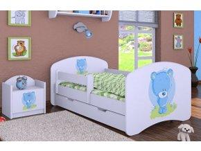 Dětská postel BABYDREAMS Blue teddy bear se šuplíkem (1)
