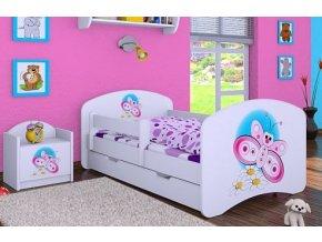 Dětská postel BABYDREAMS Butterfly se šuplíkem (1)